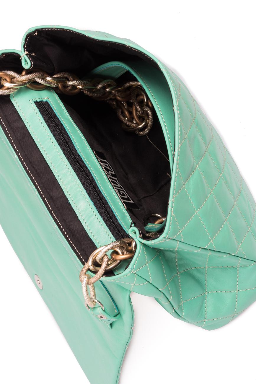 Blue quilted leather bag Giuka by Nicolaescu Georgiana  image 4