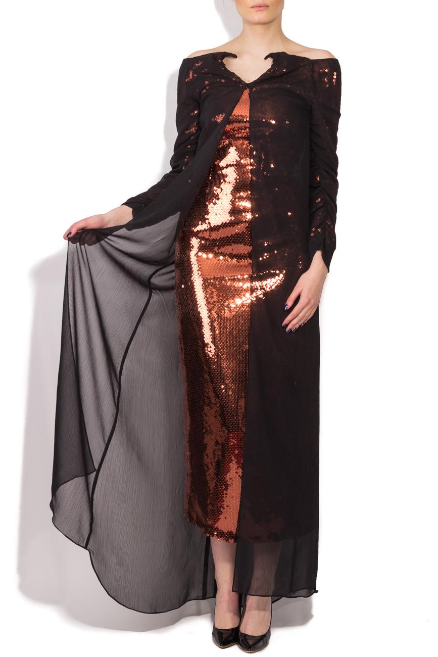 Robe à sequins bronze Dorin Negrau image 0