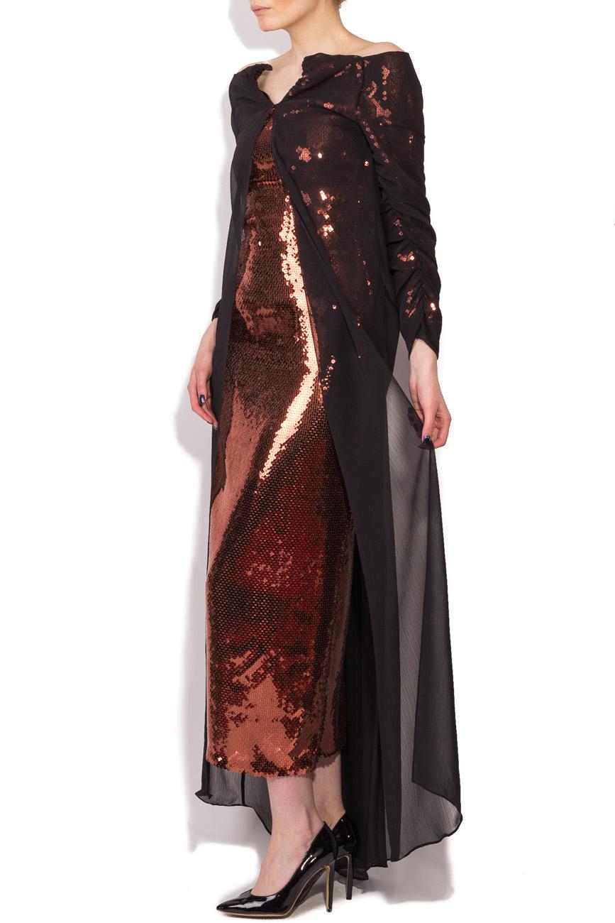 Robe à sequins bronze Dorin Negrau image 1