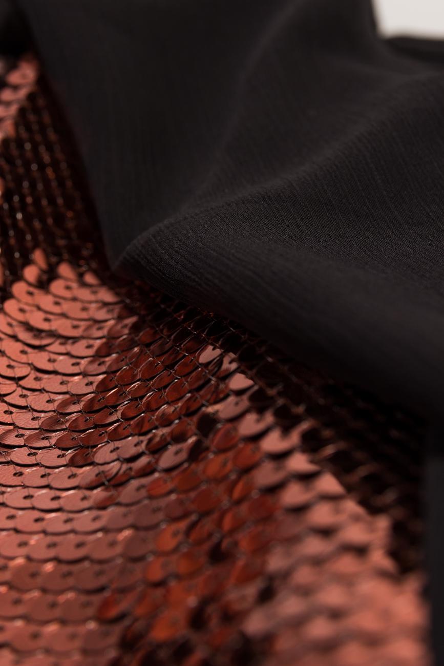 Robe à sequins bronze Dorin Negrau image 3