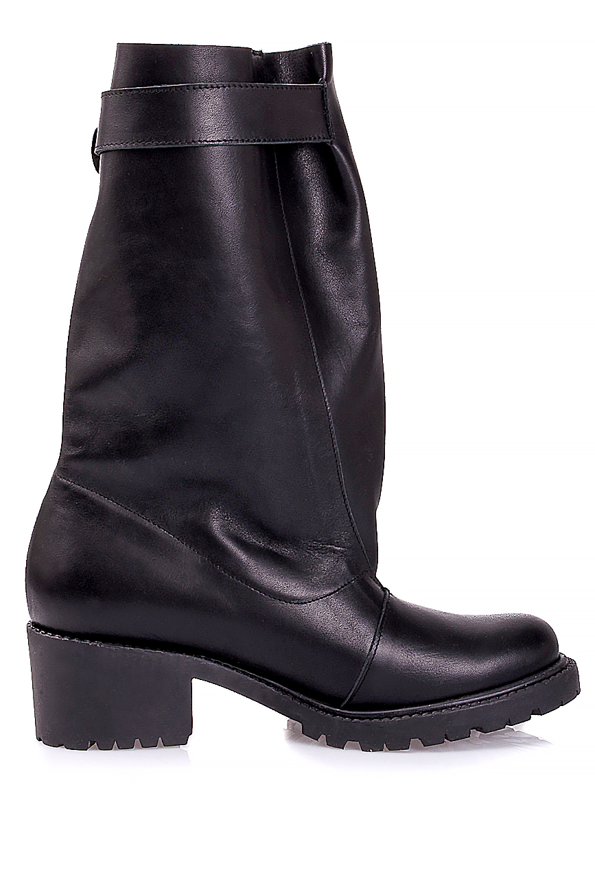 Distressed leather boots Mihaela Glavan  image 0