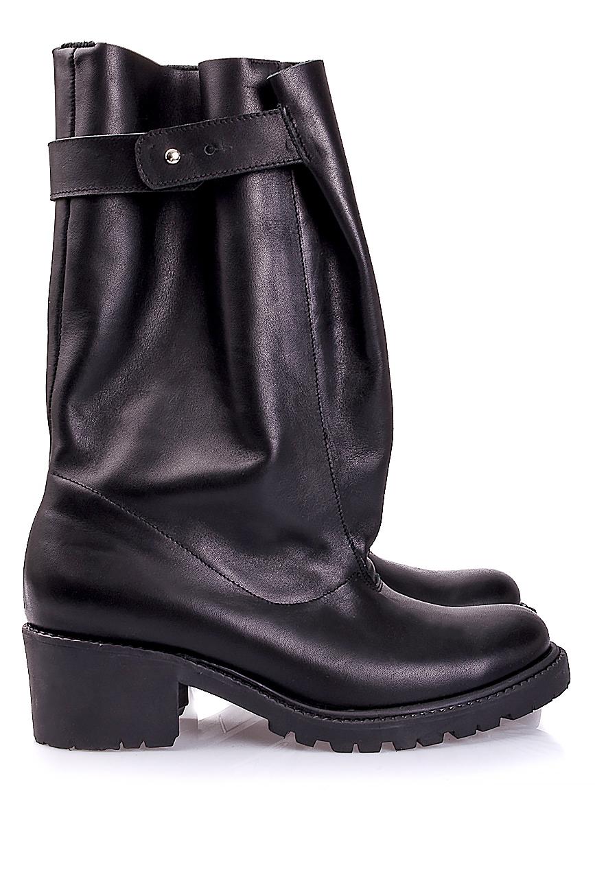 Distressed leather boots Mihaela Glavan  image 1
