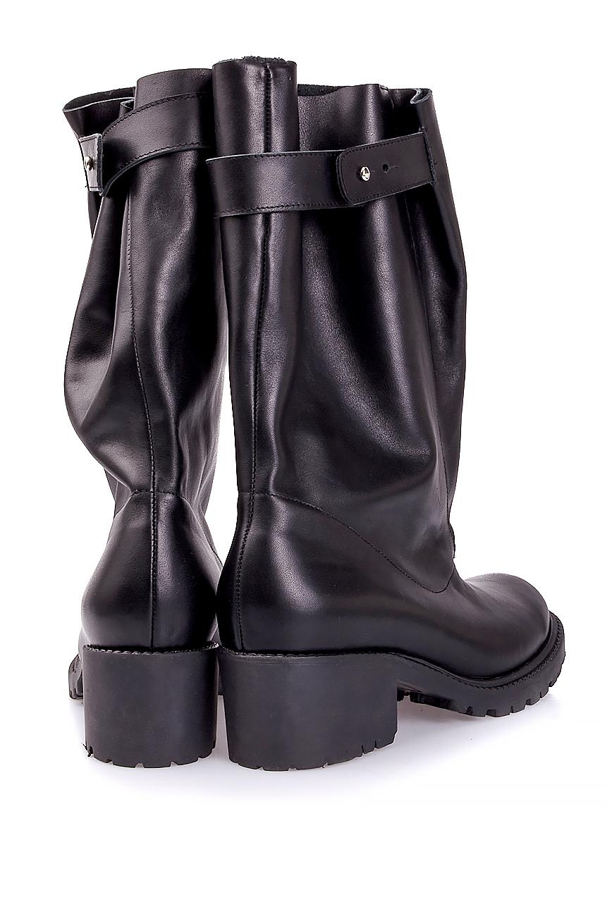 Distressed leather boots Mihaela Glavan  image 2