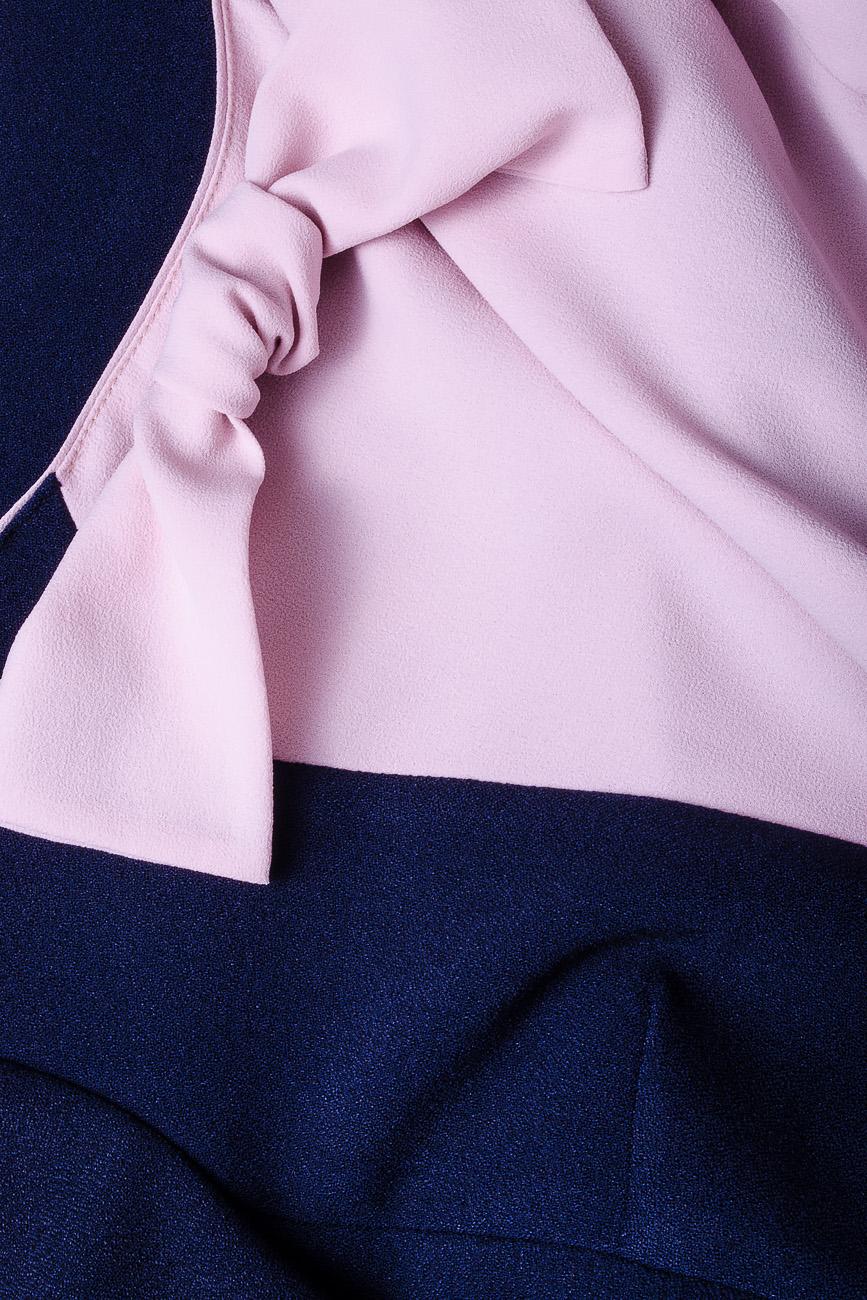 Rochie tripluvoal bleumarin cu roz Lena Criveanu imagine 3