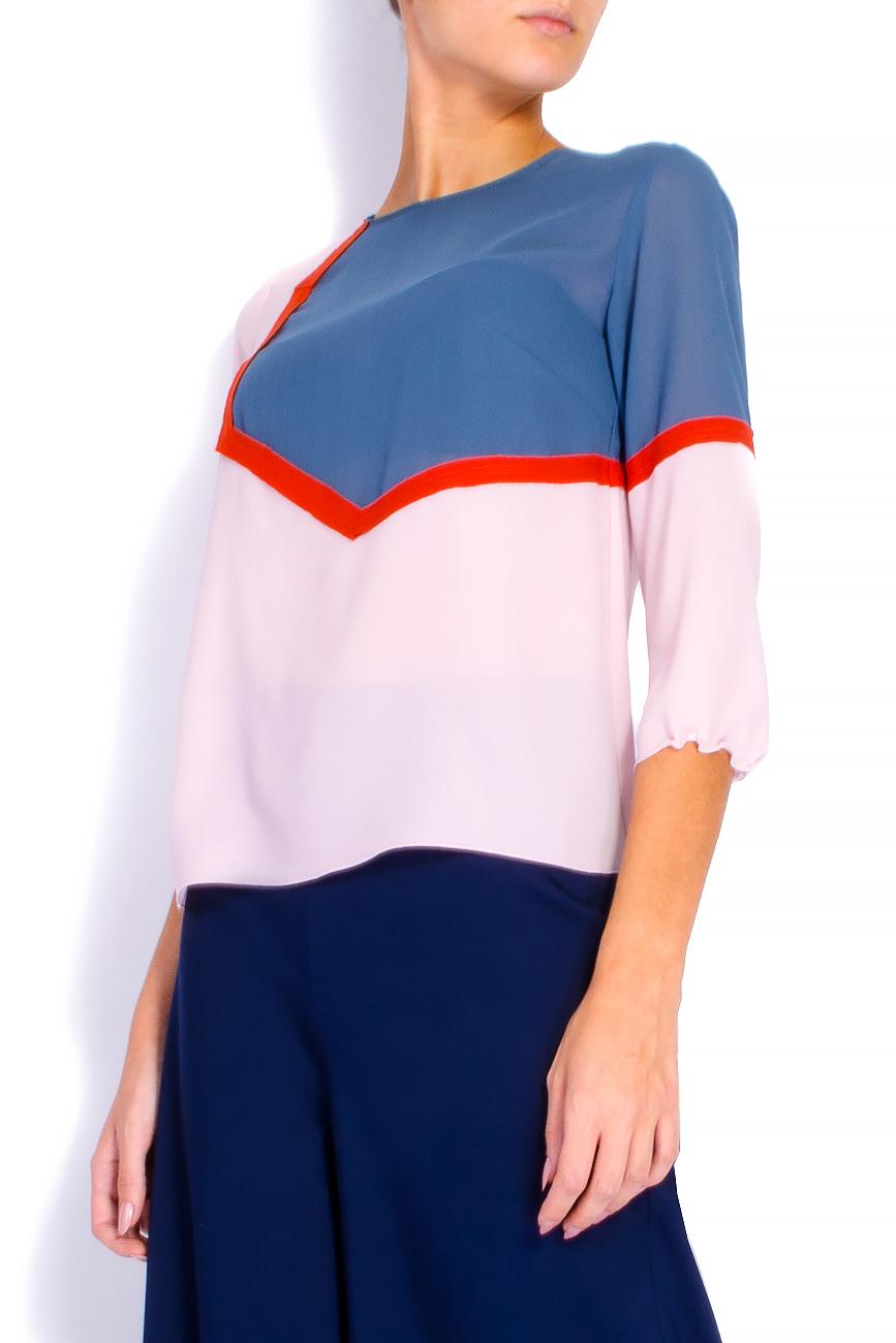 Bluza din voal roz Lena Criveanu imagine 1