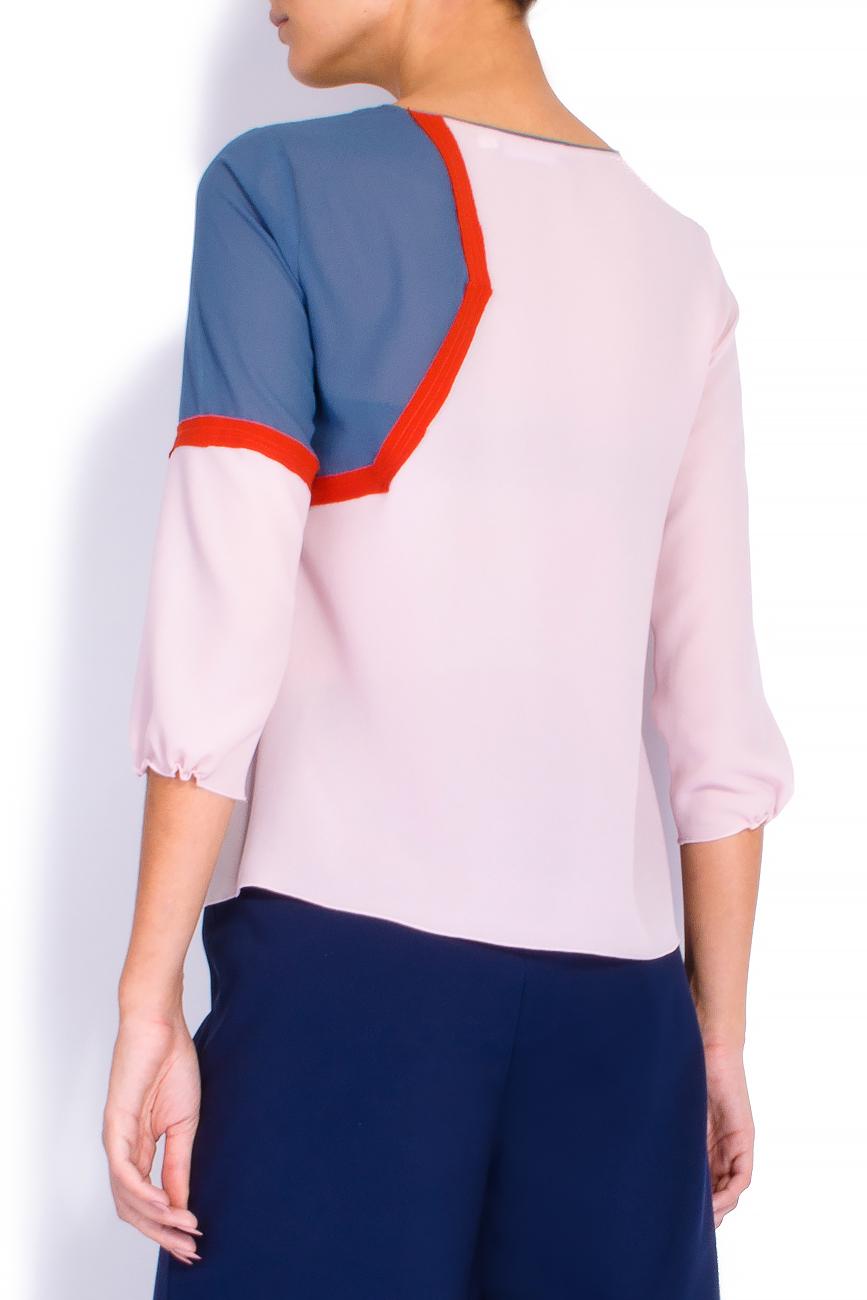 Bluza din voal roz Lena Criveanu imagine 2