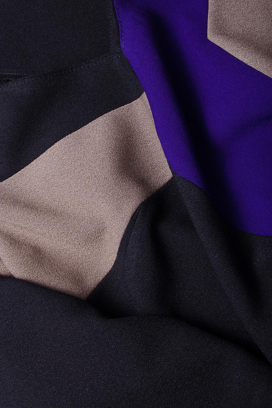 Rochie in trei culori Lena Criveanu imagine 3