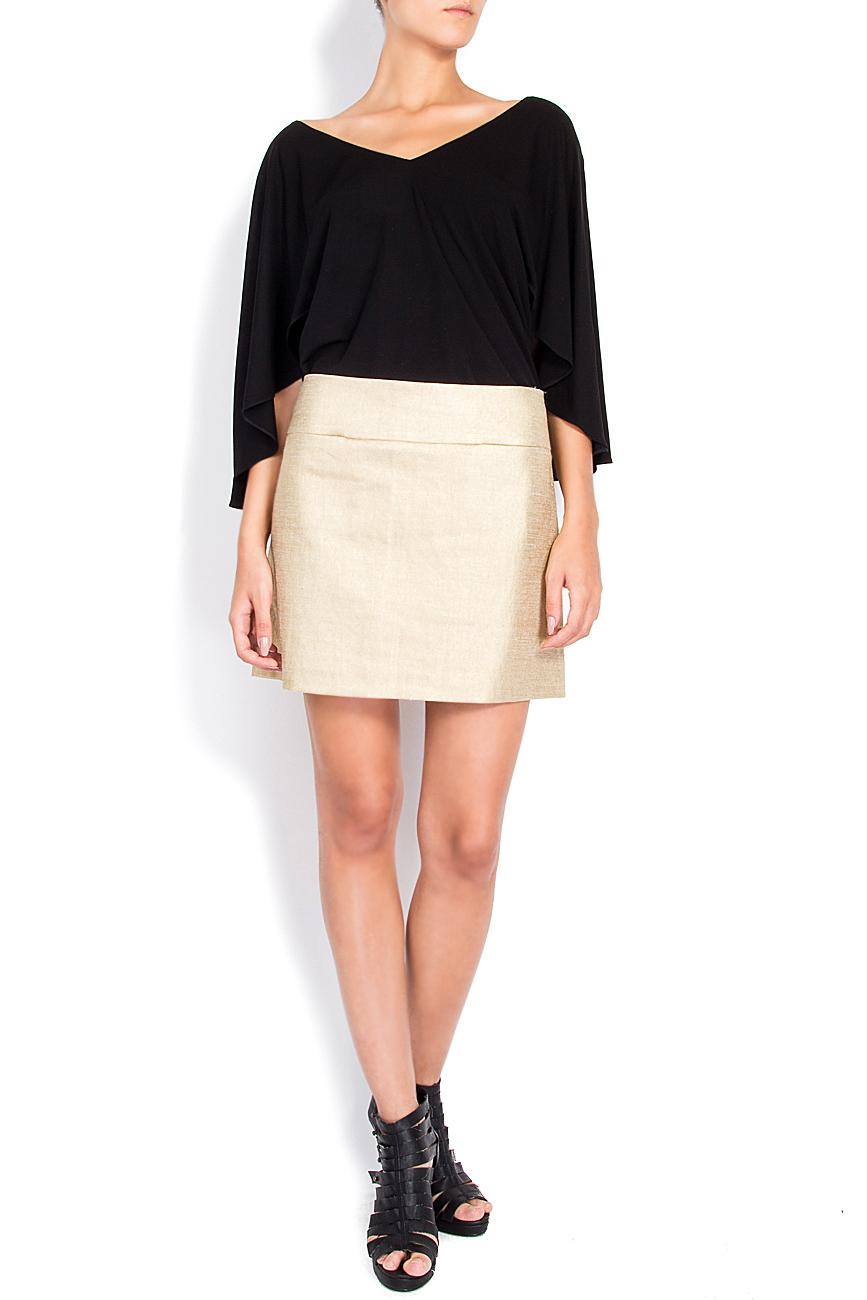 Linen-blend tube skirt Arona Carelli image 0