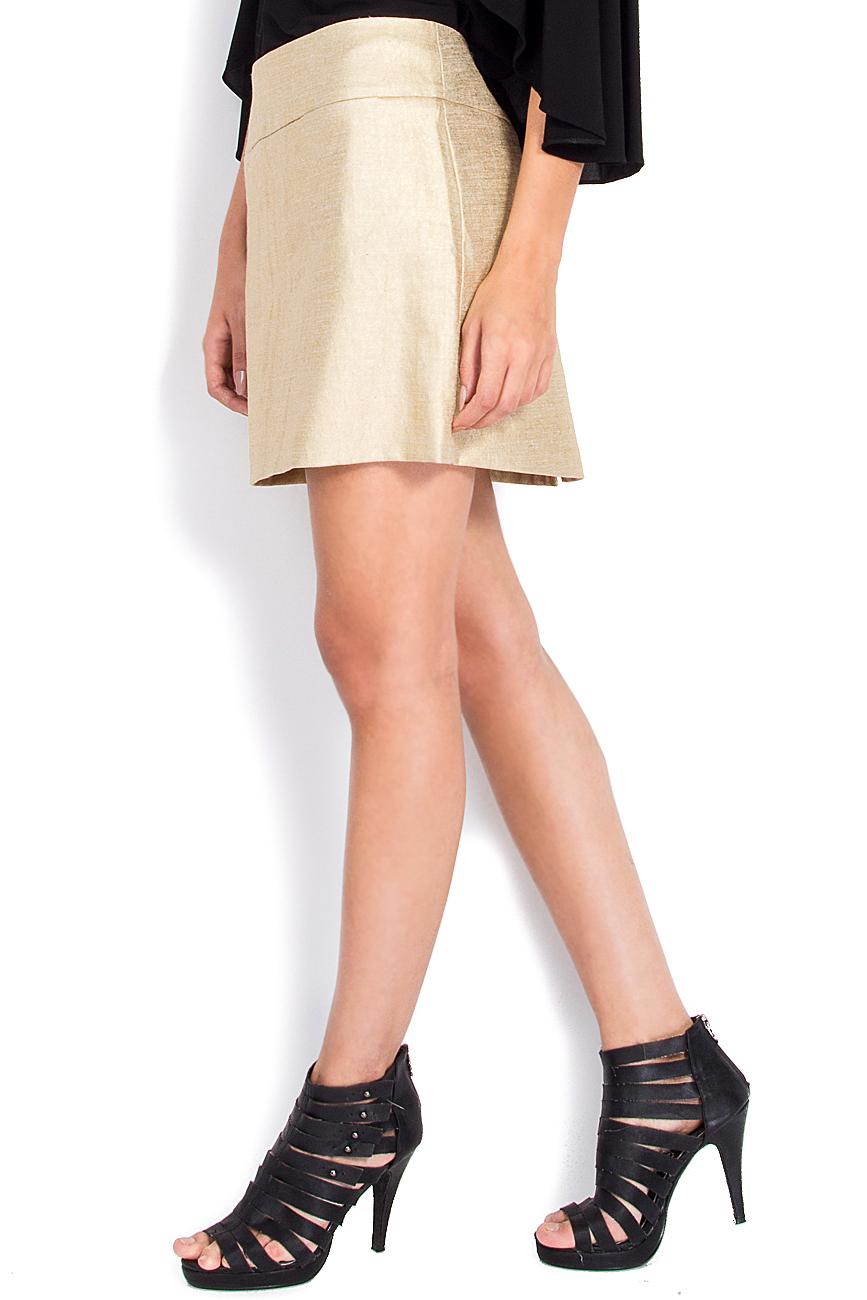 Linen-blend tube skirt Arona Carelli image 1
