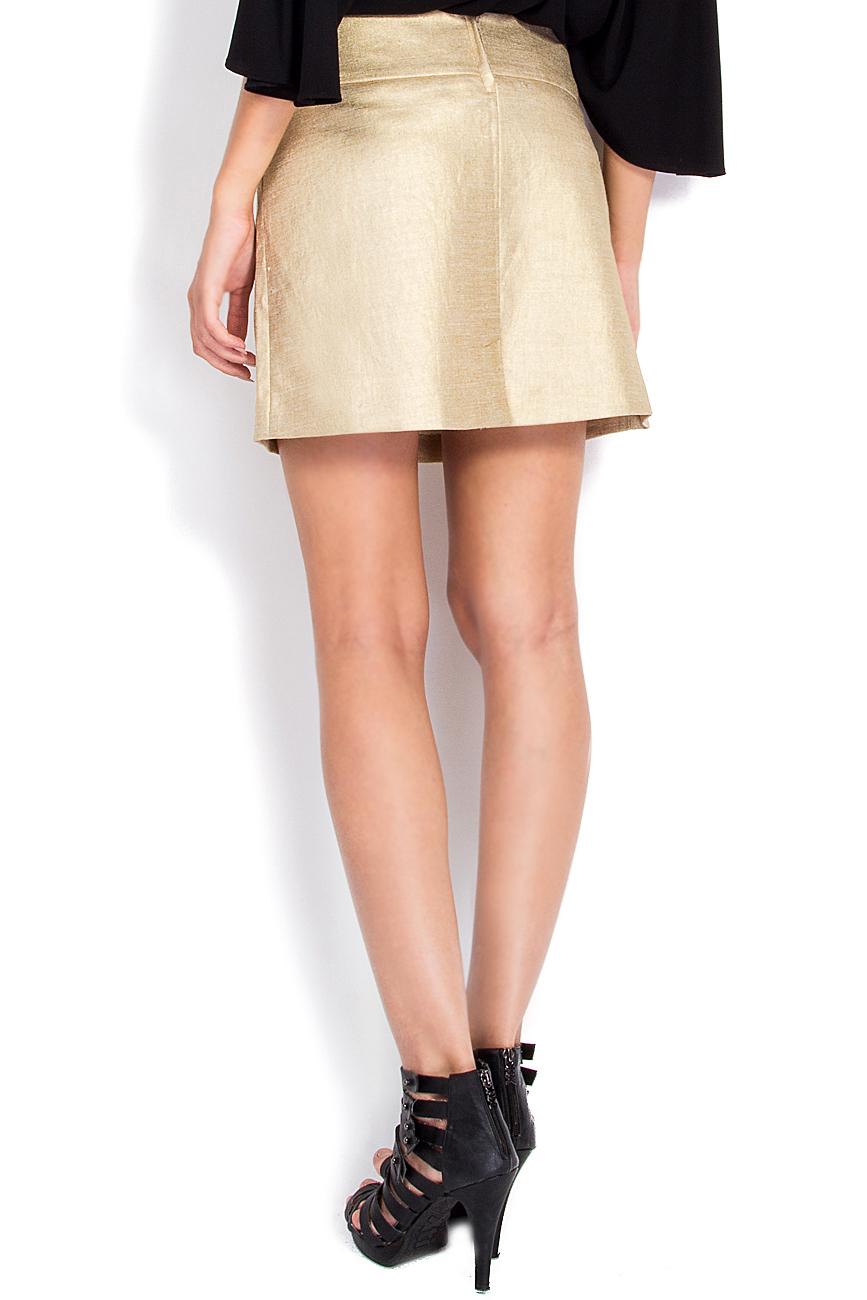 Linen-blend tube skirt Arona Carelli image 2