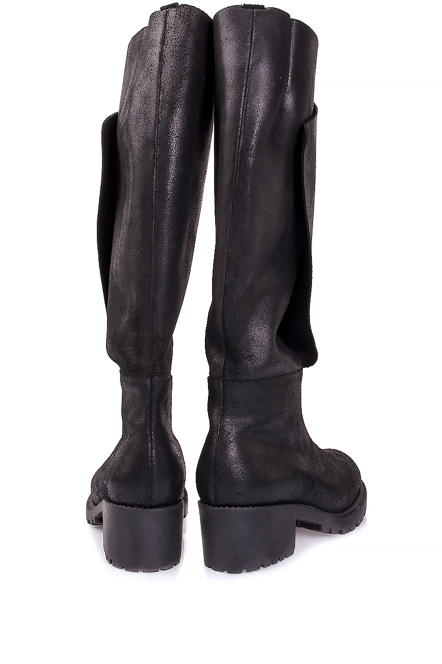 Distressed leather knee boots Mihaela Glavan  image 2