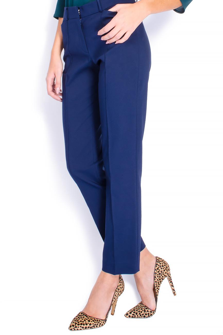 Pantaloni pana din bumbac bleumarin Lena Criveanu imagine 1