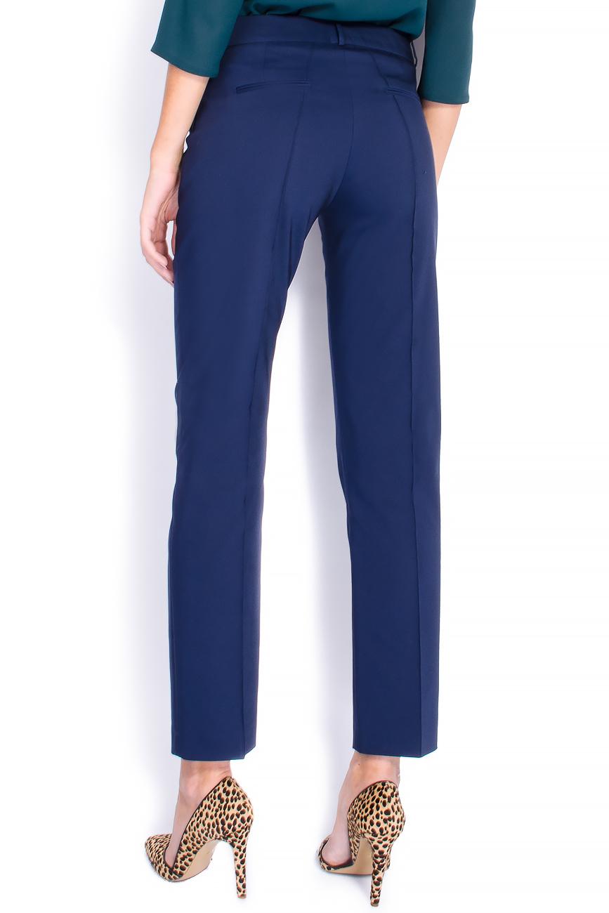 Pantaloni pana din bumbac bleumarin Lena Criveanu imagine 2