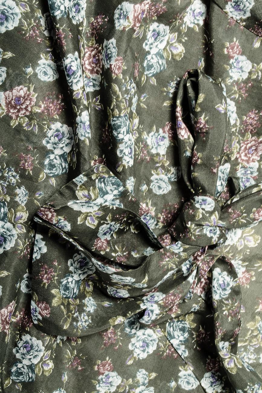 Bluza din voal cu imprimeu si esarfa Lena Criveanu imagine 3