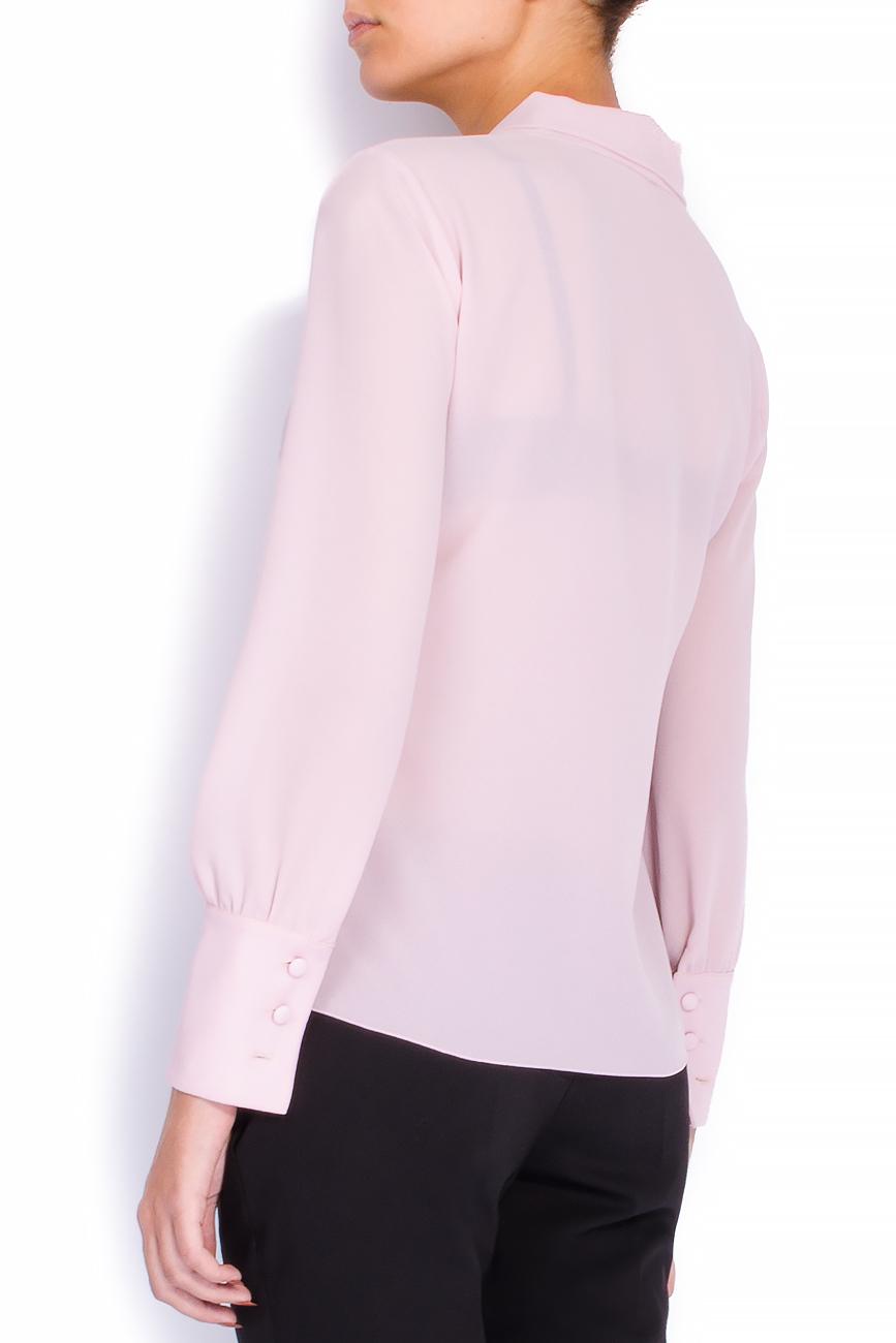Bluza din voal roz cu esarfa Lena Criveanu imagine 2