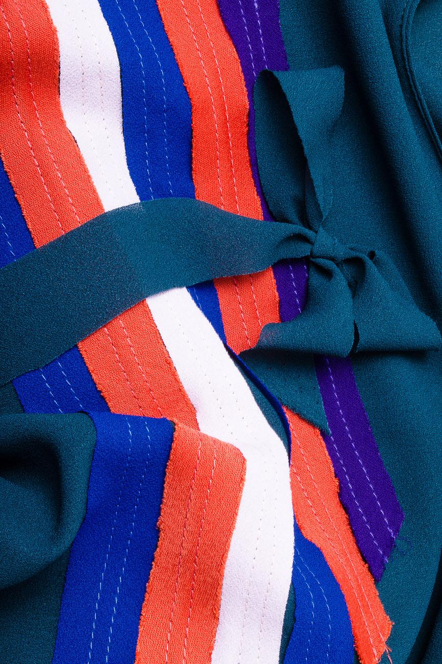 Bluza din voal cu elastic si bieuri Lena Criveanu imagine 3