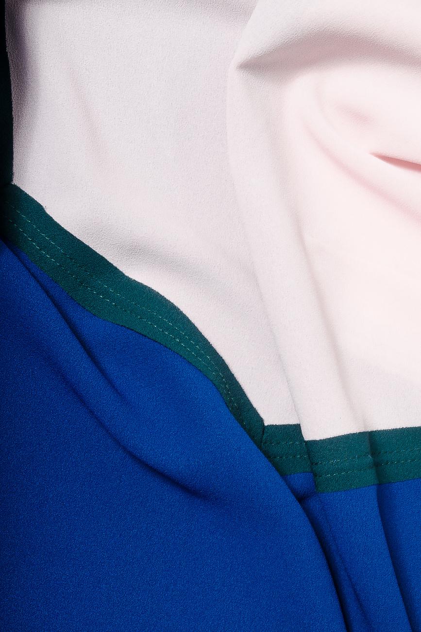 Bluza din voal cu bie decorativa verde Lena Criveanu imagine 3