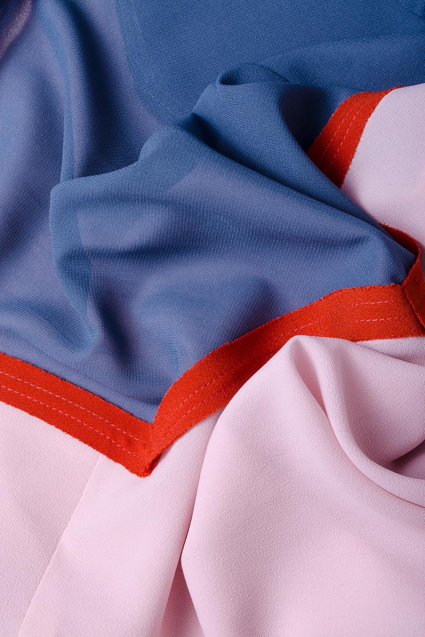 Bluza din voal gri cu bie decorativa  Lena Criveanu imagine 3