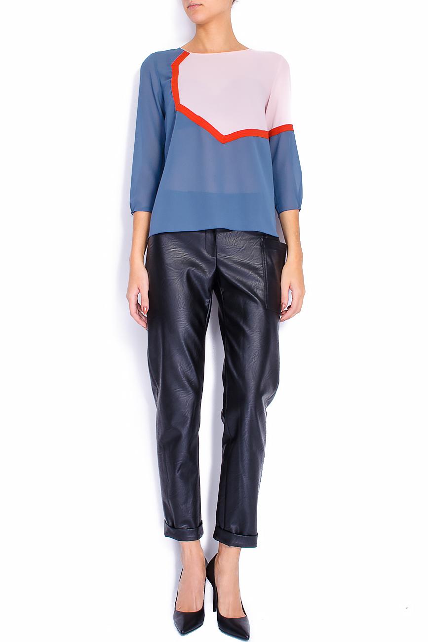 Bluza din voal gri cu bie decorativa  Lena Criveanu imagine 0
