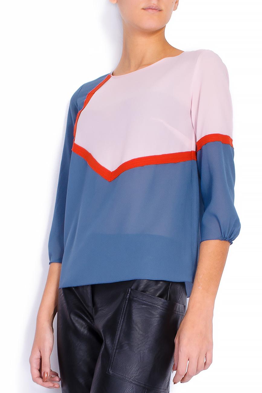 Bluza din voal gri cu bie decorativa  Lena Criveanu imagine 1