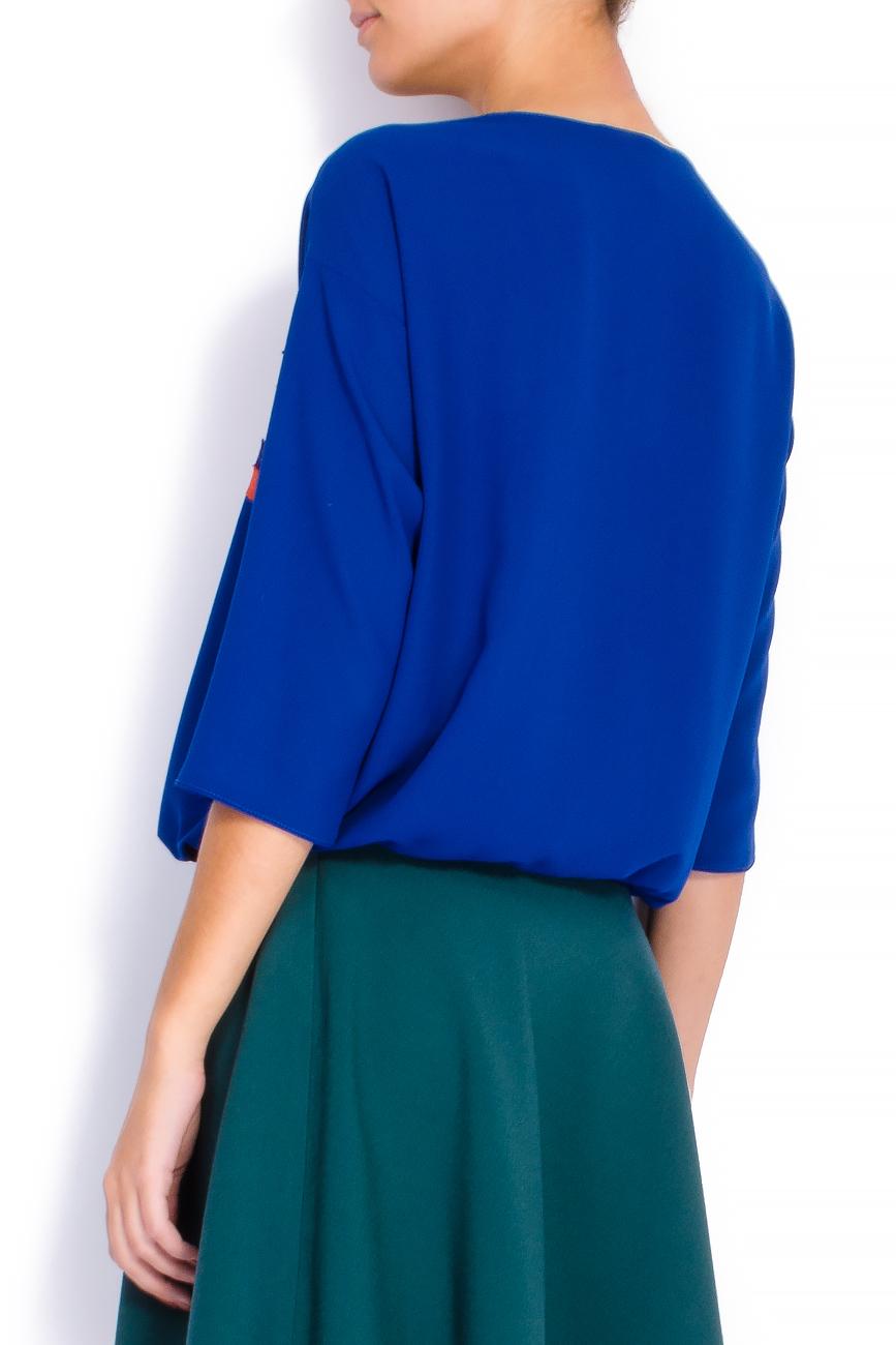 Bluza din voal cu elastic si bieuri Lena Criveanu imagine 2