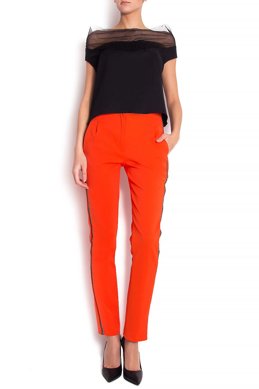 Stretch-jersey trimmed straight-leg pants Florentina Giol image 0