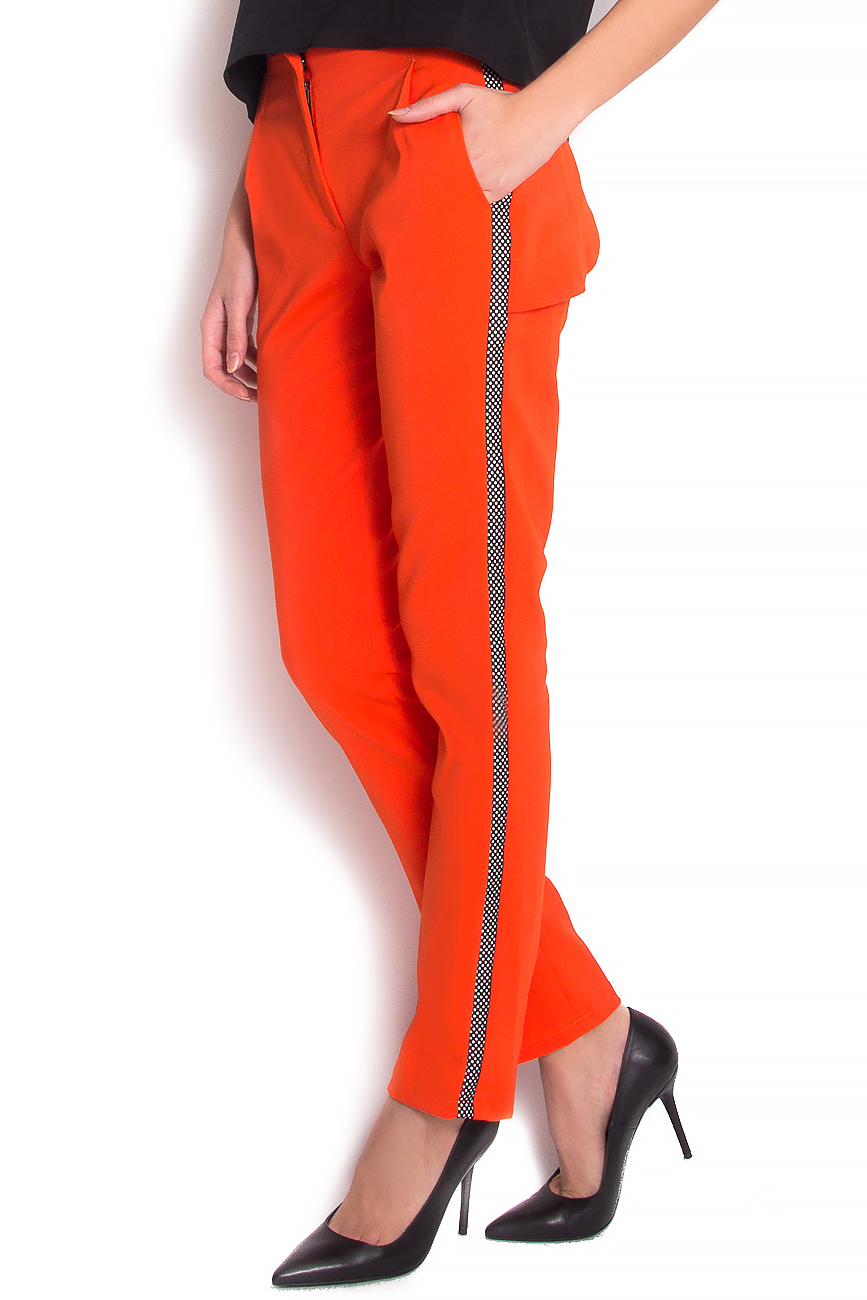Stretch-jersey trimmed straight-leg pants Florentina Giol image 1