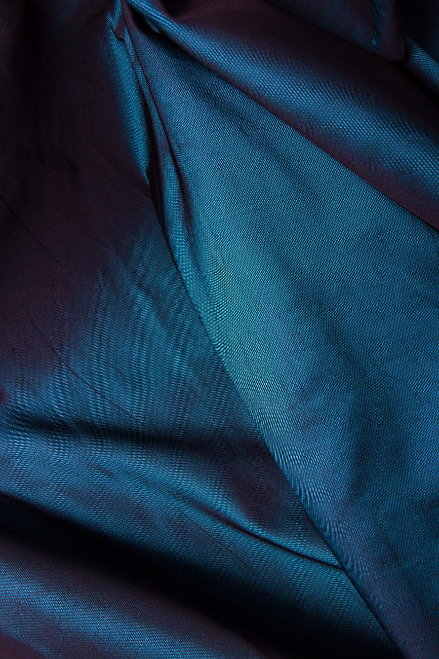 Rochie din tafta din doua piese Cloche imagine 3