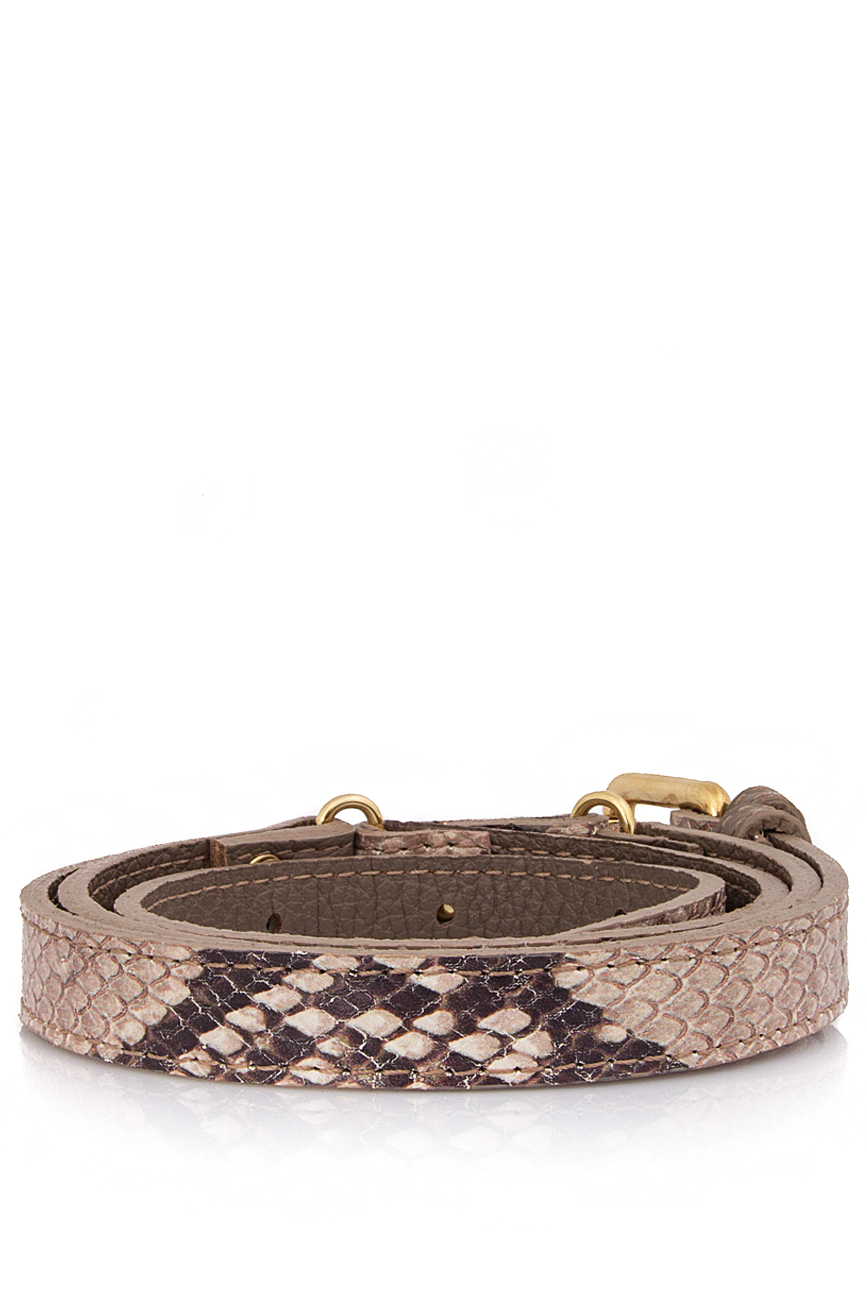 Snake-effect leather belt  Sophie Handbags by Andra Paduraru image 1