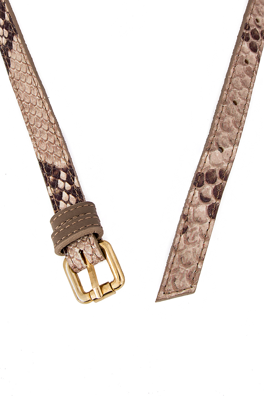 Snake-effect leather belt  Sophie Handbags by Andra Paduraru image 2