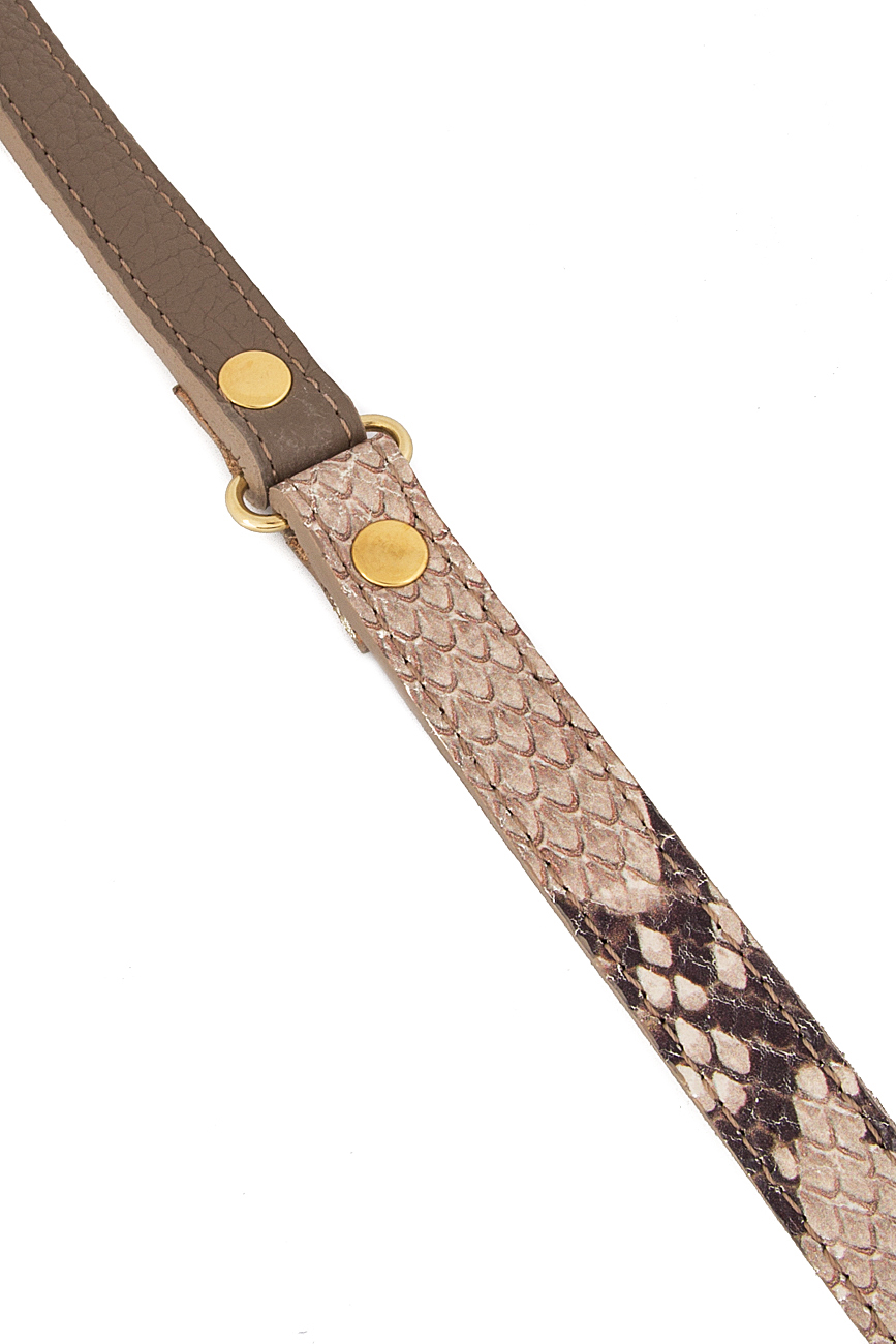 Snake-effect leather belt  Sophie Handbags by Andra Paduraru image 3