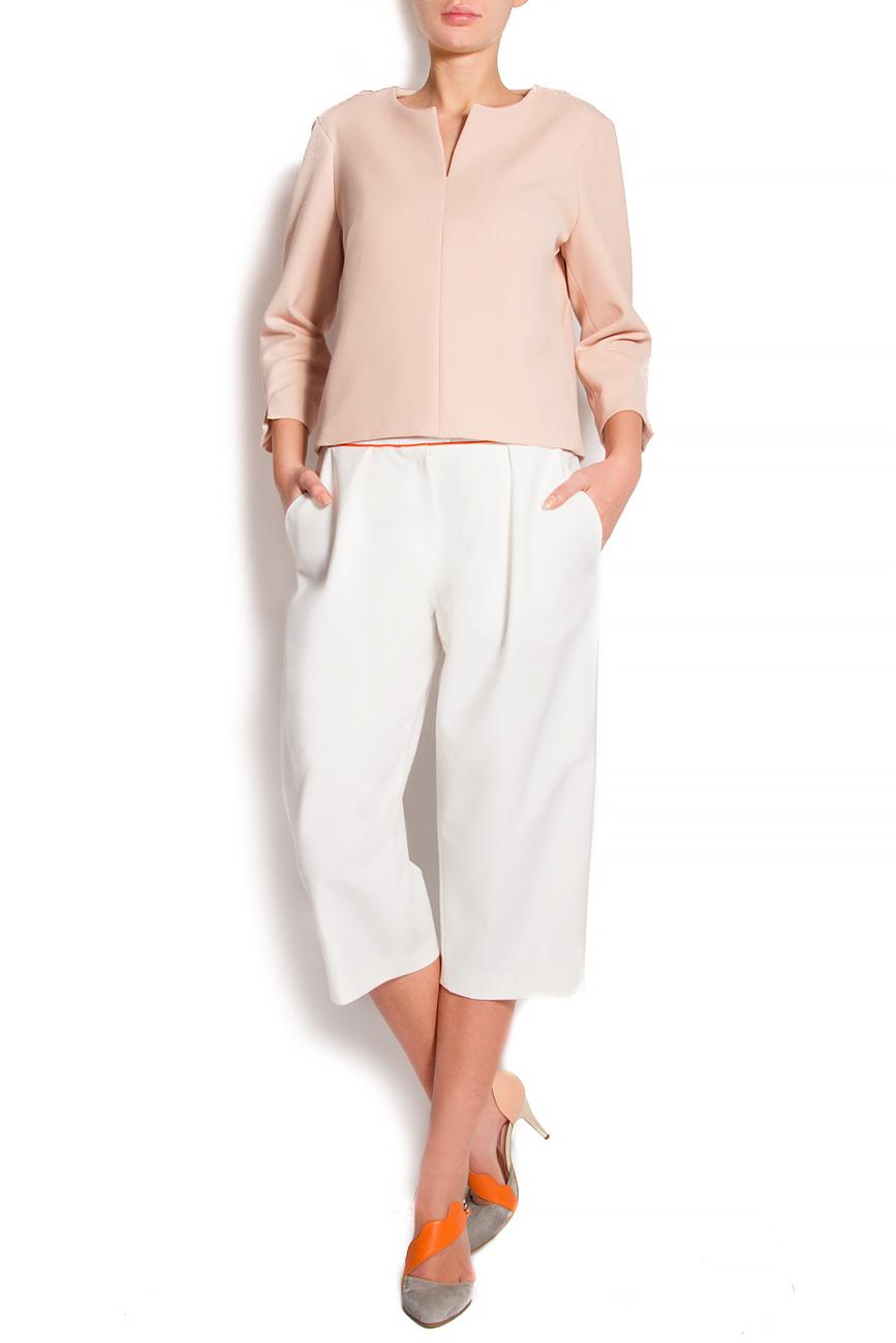 Pantaloni trei sferturi cu buzunare laterale Claudia Castrase imagine 0