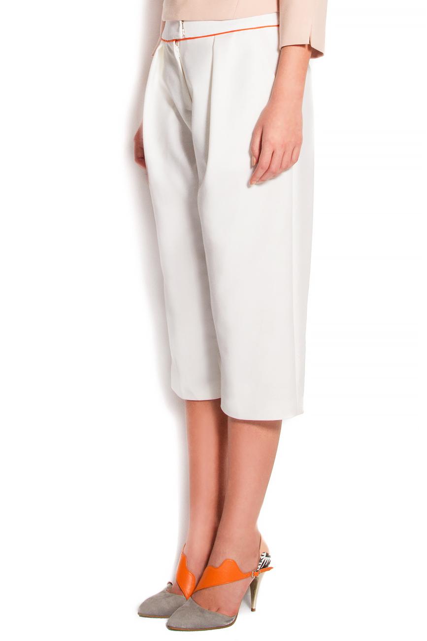 Pantaloni trei sferturi cu buzunare laterale Claudia Castrase imagine 1