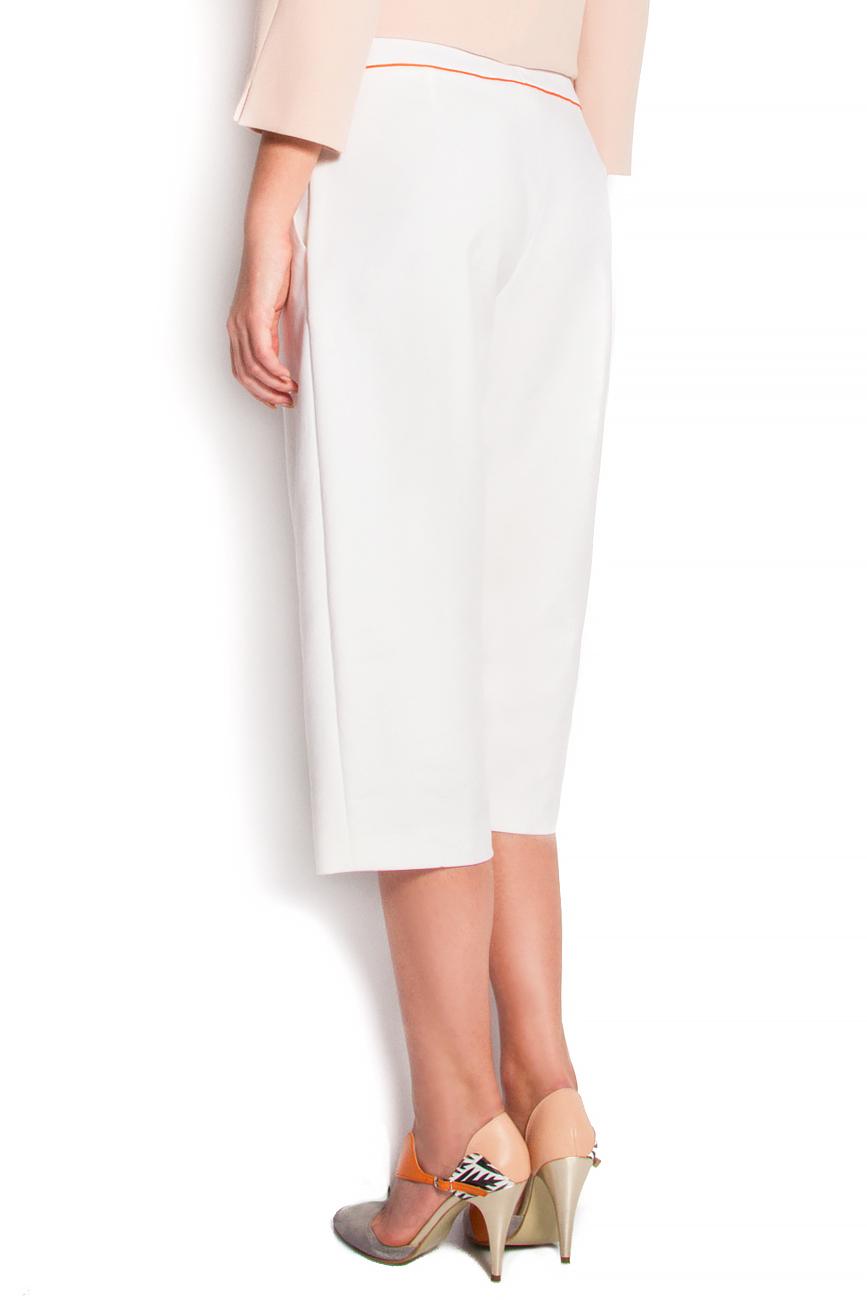 Pantaloni trei sferturi cu buzunare laterale Claudia Castrase imagine 2