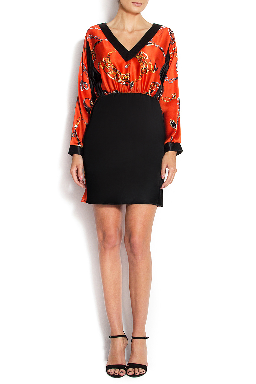 Printed silk mini dress Grigori Ciliani image 0