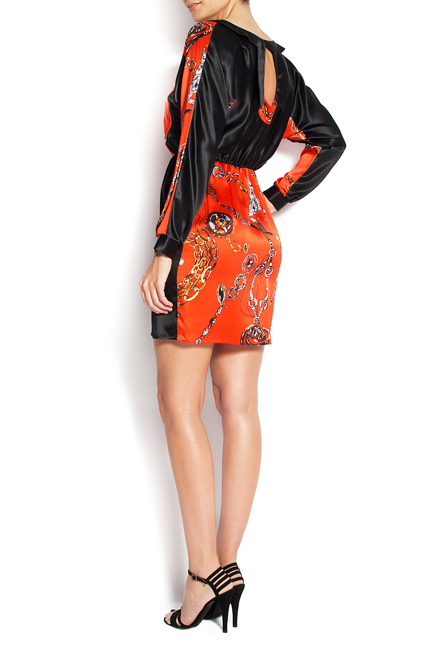 Printed silk mini dress Grigori Ciliani image 2