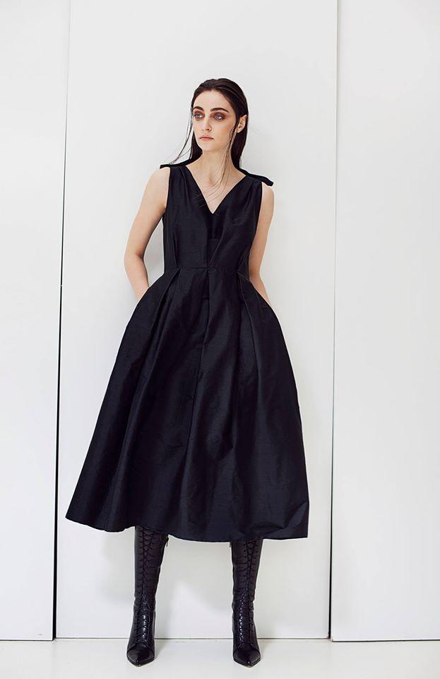 Silk Shantung Dress Claudia Castrase Image 0