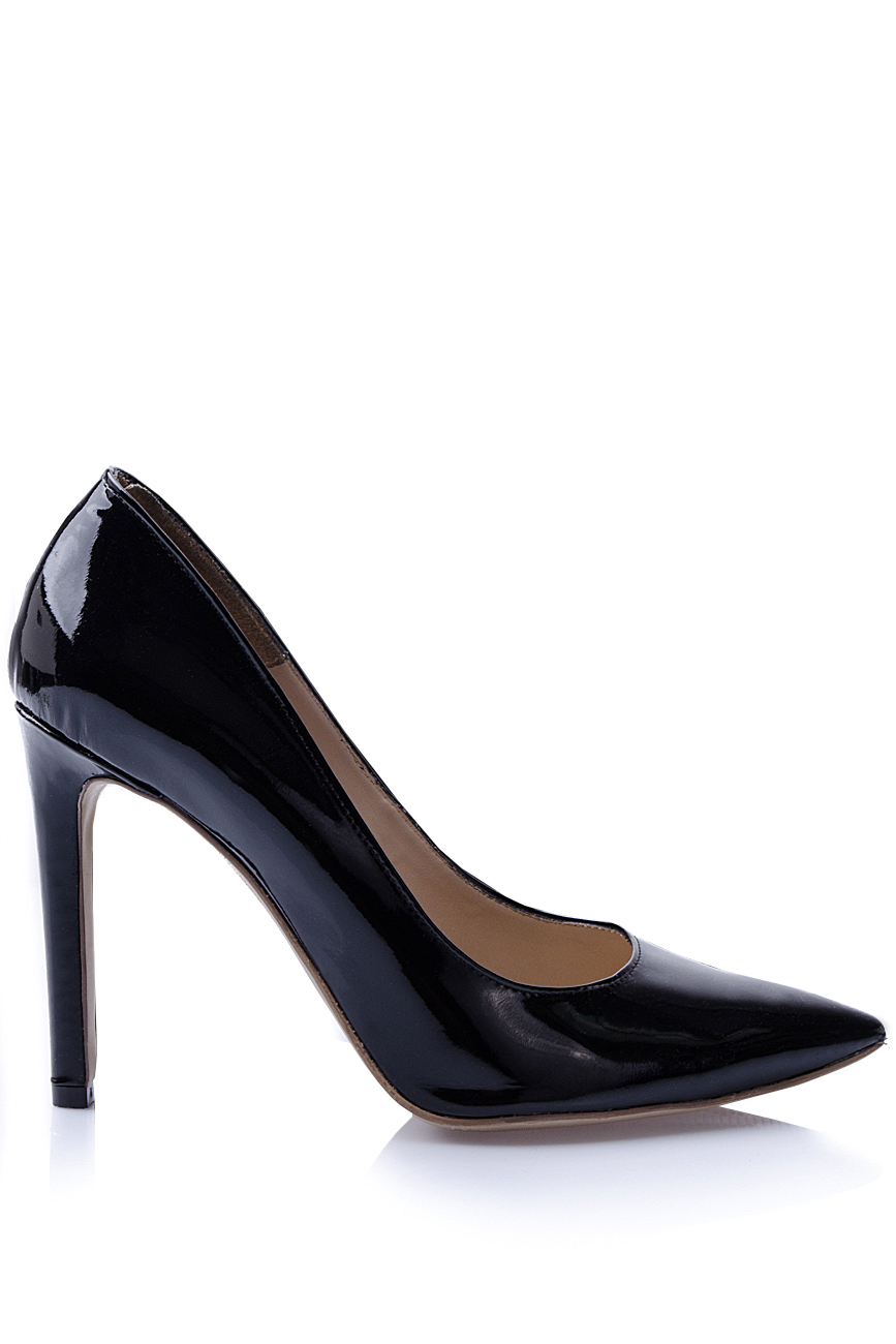 a74a489b1e5d Black patent-leather pumps - Heeled Shoes made to measure