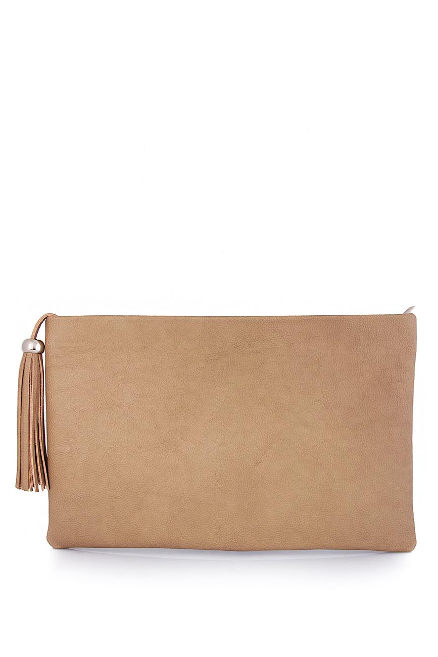 Leather clutch with decorative tassel Laura Olaru image 2