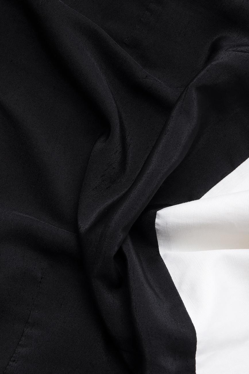 Top bicolor din vascoza  Lena Criveanu imagine 3