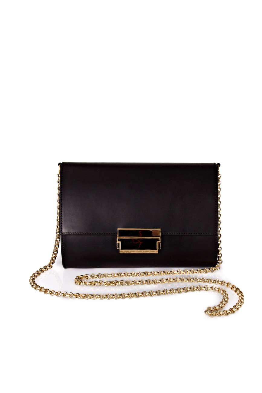 Black clutch with golden chain Giuka by Nicolaescu Georgiana  image 0