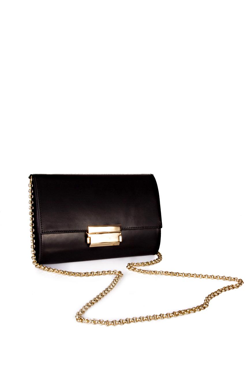 Black clutch with golden chain Giuka by Nicolaescu Georgiana  image 1