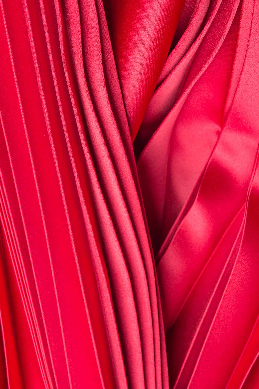 de4f7900b6 Pleated satin maxi skirt Karmen Herscovici image 3