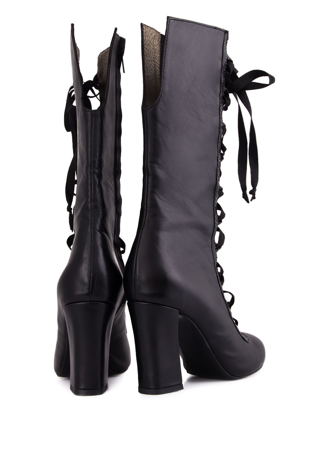 Lace-up leather boots Ana Kaloni image 2