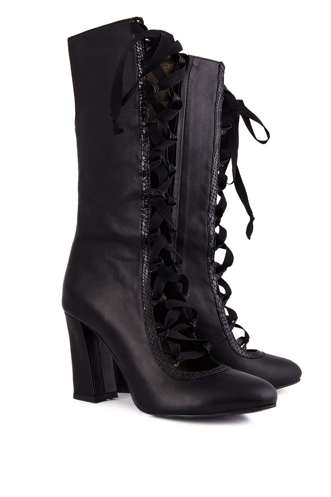 Lace-up leather boots Ana Kaloni image 1