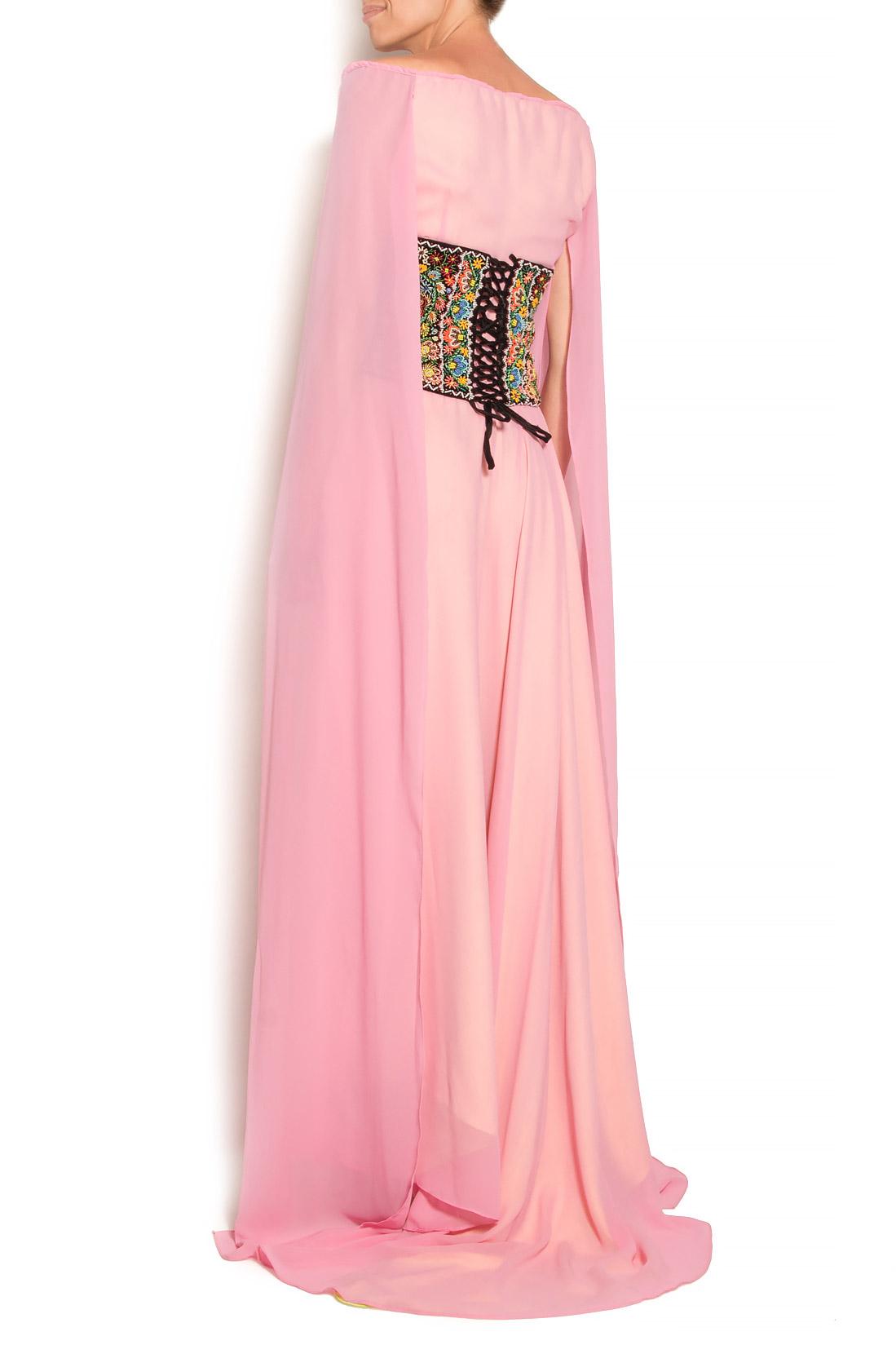 Hand embellished velvet waistband Dorin Negrau image 2