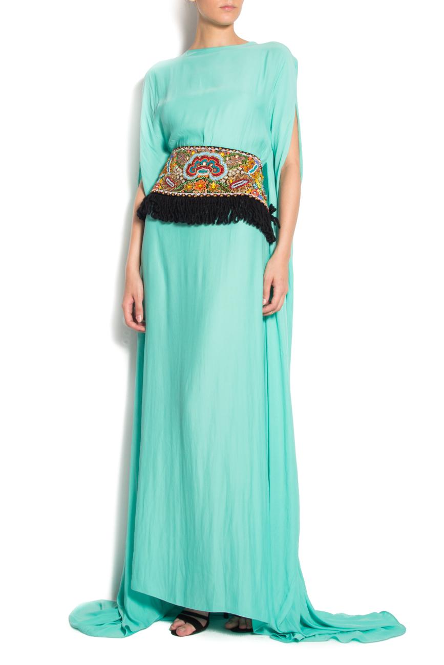 Hand embellished velvet belt Dorin Negrau image 1