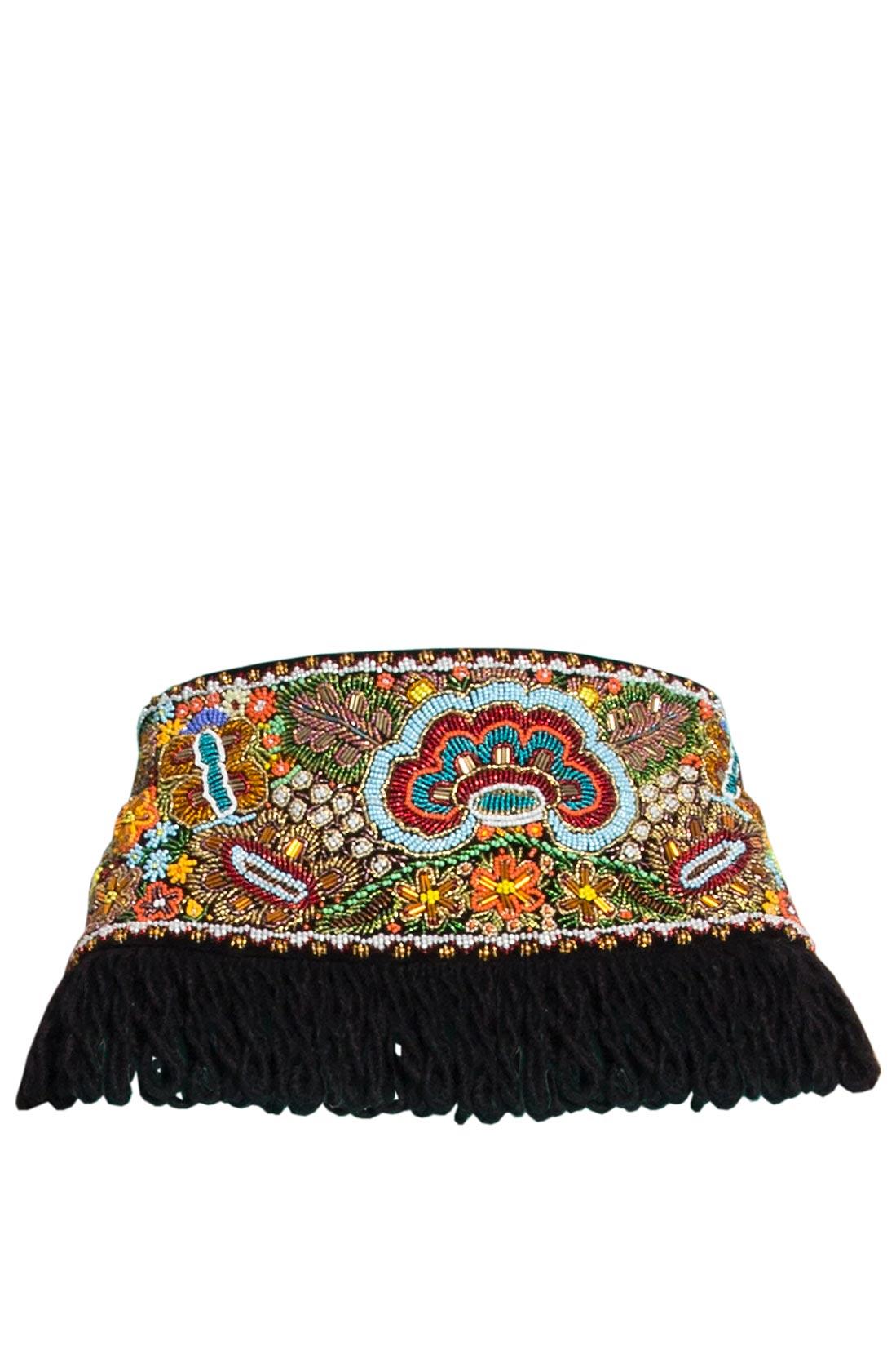 Hand embellished velvet belt Dorin Negrau image 0