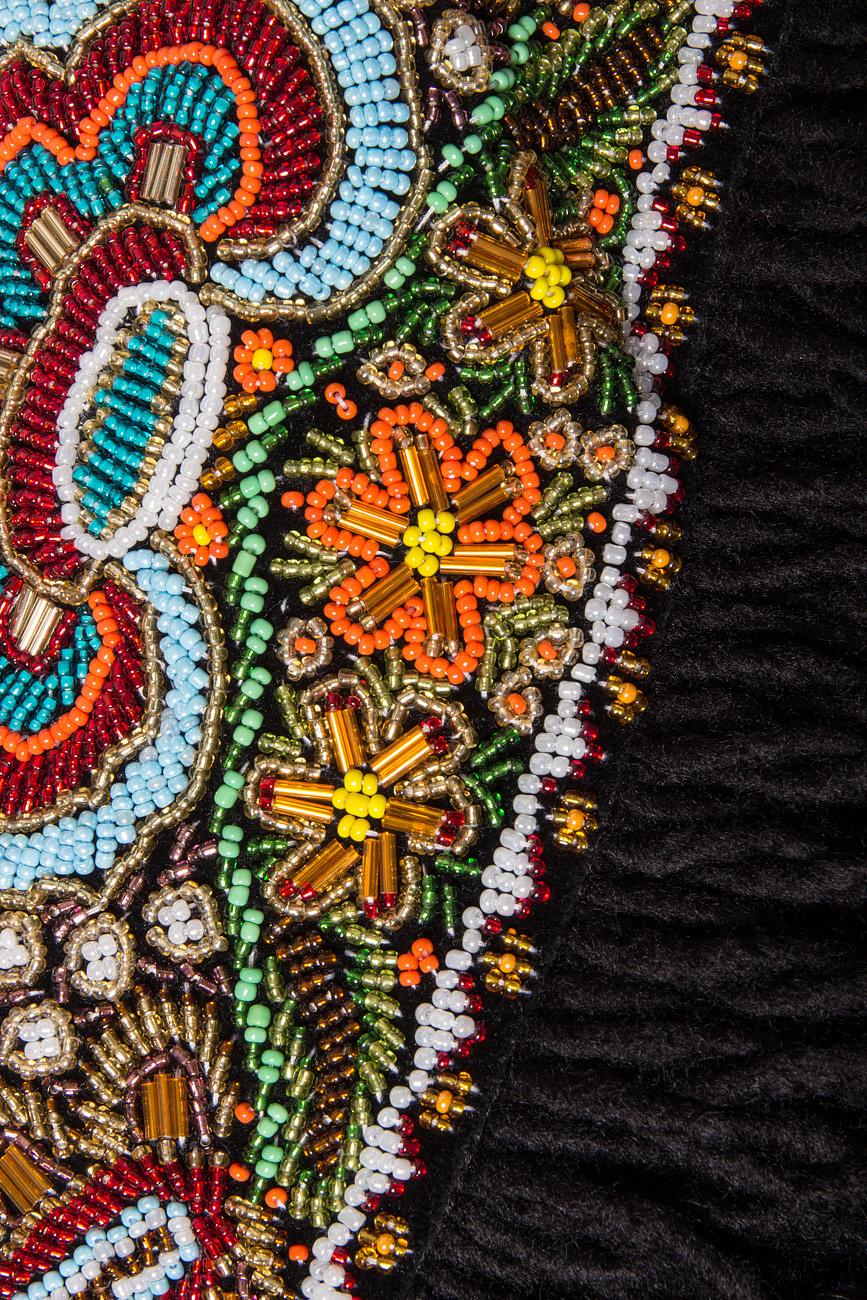 Hand embellished velvet belt Dorin Negrau image 3