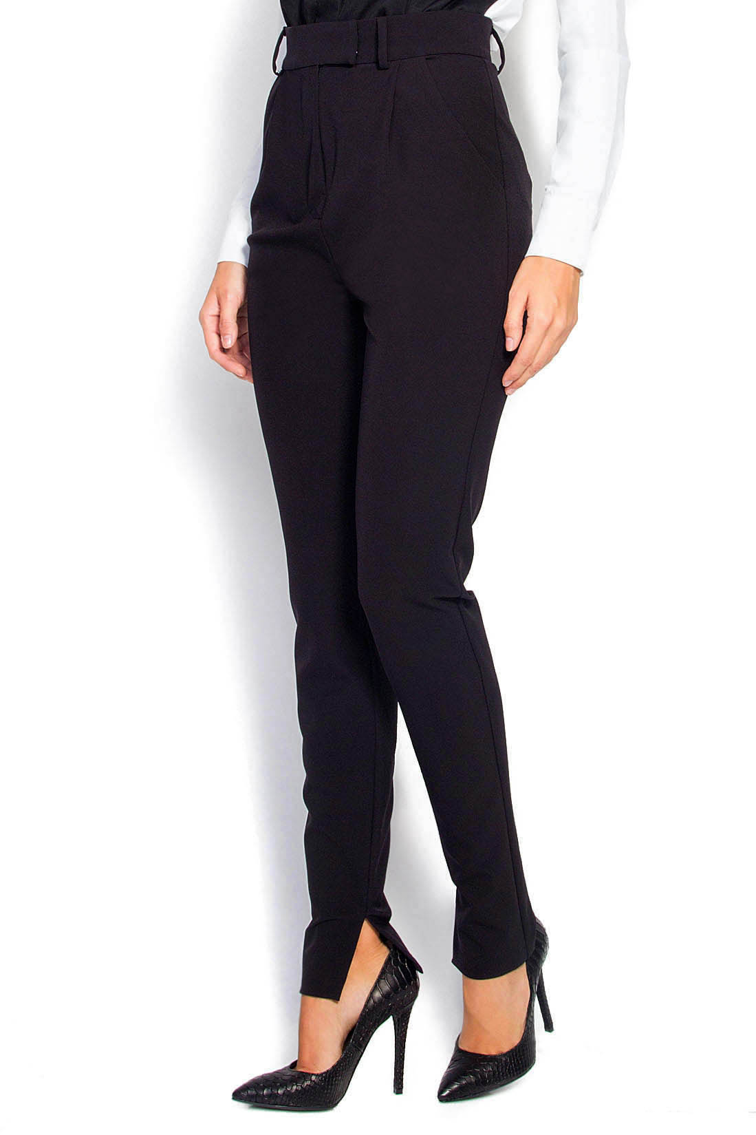 pantalon taille haute pantalons droits pantalons sur mesure. Black Bedroom Furniture Sets. Home Design Ideas